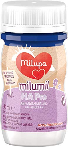 Milupa Milumil HA PRE, hydrolysierte Anfangsnahrung von Geburt an, Baby-Milchnahrung trinkfertig 24 x 90ml