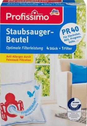 Profissimo Staubsaugerbeutel PR40, 1 Packung mit 4 Stück