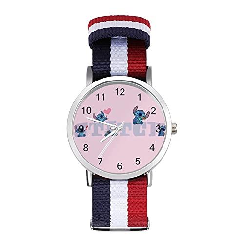 Lilo Stitch - Reloj de ocio para adultos, moderno, bonito y personalizado de aleación de concha casual para hombres y mujeres
