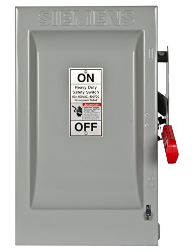Siemens HF362 60-Amp 3 Pole 600-volt 3 Wire Fused Heavy Duty Safety Switches