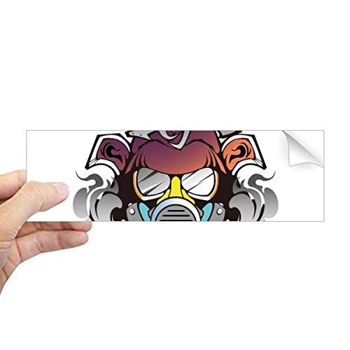 DIYthinker Vervuiling Kleurrijke Japanse Gas Masker Rechthoek Bumper Sticker Notebook Window Decal