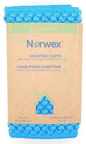 Norwex Counter Cloths, marine, teal, sea mist