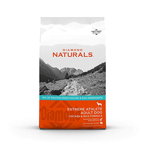 Diamond Naturals Extreme Athlete Real Meat Recipe High Protein Dry Dog Food With Real Cage Free Chicken Protein 40Lb