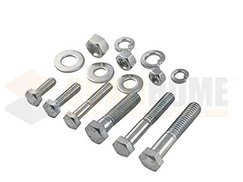 Heavy Duty Nut & Bolt Assortment Kit, 172 Pieces, Includes 9 Most Common Sizes