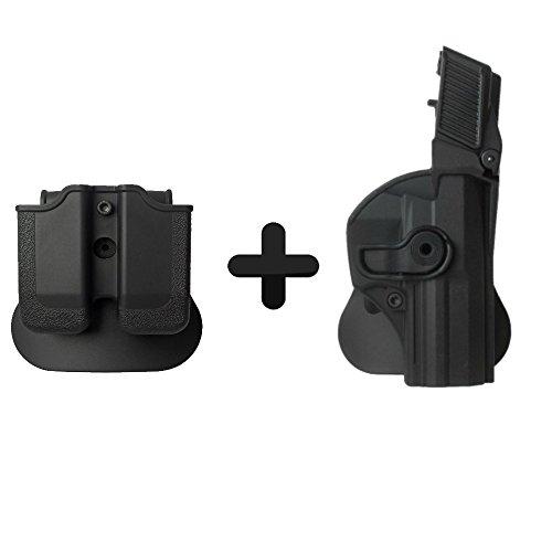 IMI Defense táctica Oculta Roto Holster + Revista Bolsa para Heckler & Koch H & K USP Compacto
