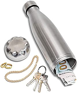 Diversion Water Bottle Can Safe by Stash-it, Stainless Steel Tumbler with Hiding Spot for Money, Bonus Smell Proof Bag, Di...