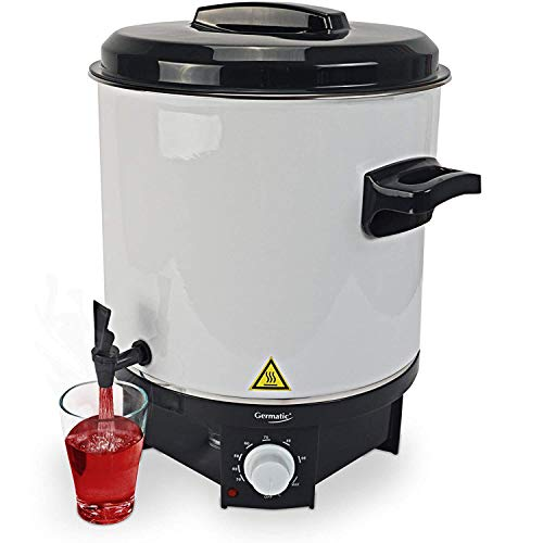 Germatic Einkochautomat- und Heißgetränkeautomat inkl. Einlegegitter Glühweinkocher mit Zapfhahn Multifunktionsgerät 1800W 27 l Volumen