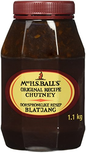 Mrs H.S.Balls Original Chutney (1.1Kg wide mouth plastic bottle) - Imported from South Africa