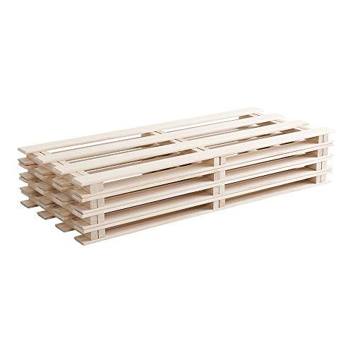 天然木使用 通気性抜群 抗菌・防カビ・調湿効果 軽量押し入れ桐すのこ 8枚入り