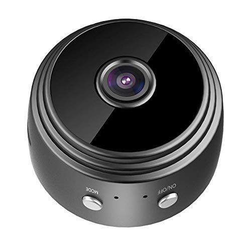 Oolifeng 1080p HD mini-beveiligingscamera, draadloos systeem, mini-camera met nachtzicht en camerasensor voor op kantoor thuis of in de auto videorecorder, Black1080P