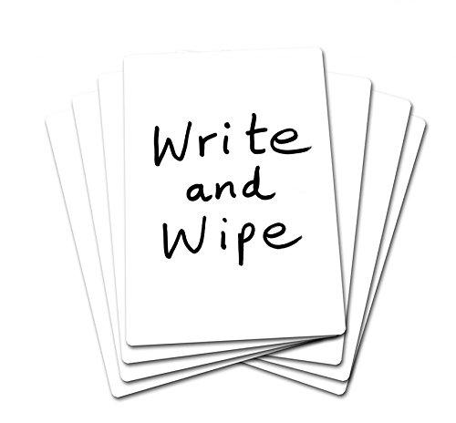 SG Education Plain A430 - Pizarra para escribir y limpiar (tamaño A4, 30 unidades)