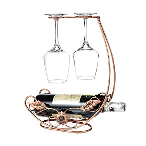 Estantería de vino Vino vino rack de gabinetes más frías for mostrar bastidores de vino restaurante, decoraciones for el hogar hierro forjado sola botella de vino tinto estante acumular decoración for