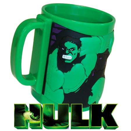 MARUKATSU Tazas plastico Hulk de Marvel 3D