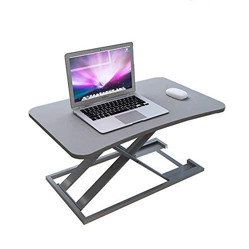 N/Z Wohngeräte Sitzständer Desktop-Computer Workstation Höhenverstellbar Stehen Anheben und Absenken in Verschiedene Positionen für ergonomische Komfort-Werkbank (Farbe: Holzfarbe)