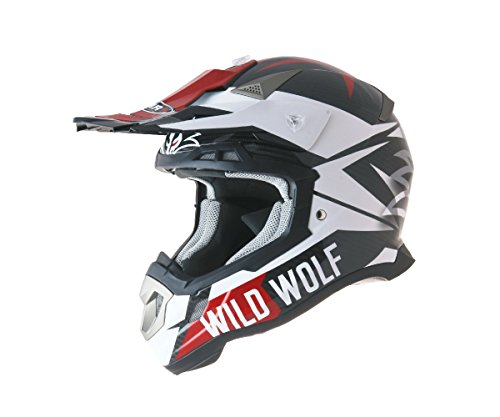 CASCO SHIRO MX-917 CARBONO WILD WOLF (XL)