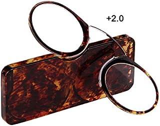 7beba40d11 RoadRomao Gafas de Lectura livianas y cómodas Gafas para presbicia Gafas de  Lectura portátiles Estilo Nariz