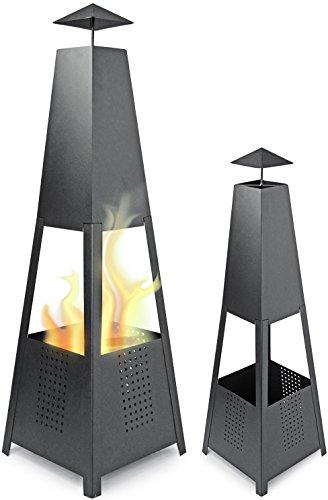 Metall Terrassenfeuer Pyramide Feuerkorb 100 cm