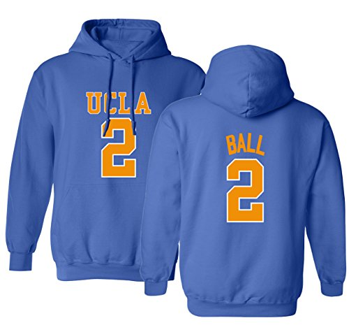KINGS SPORTS UCLA 2017 Bruins Lonzo Ball 2 College Basketball Men's Hoodie Sweatshirt (Royal,S)