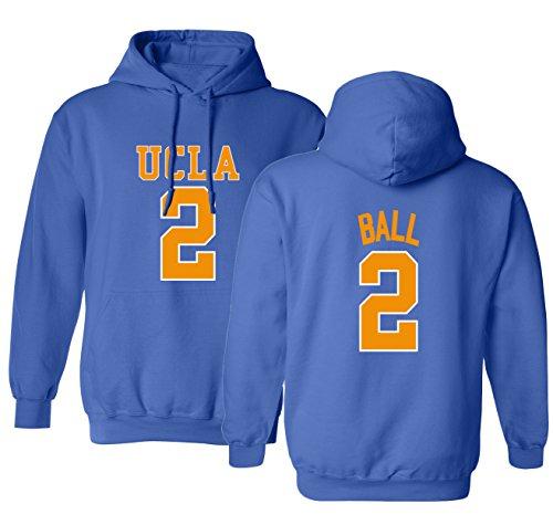 KINGS SPORTS 2017 Bruins Lonzo Ball 2 College Basketball Men's Hoodie Sweatshirt (Royal,S)
