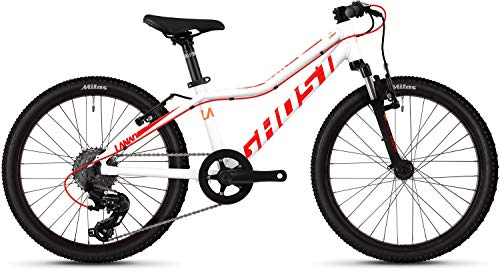 Ghost Lanao 2.0 AL W 20R Mädchen Mountain Bike 2019 (20 Zoll, Star White/Neon Red/Juice Orange)
