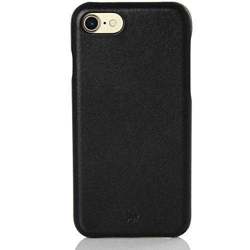BULLAZO Menor Classic, hochwertige Handyhülle, Hülle, Hülle, Backcover echt Leder, Kompatibel mit Apple iPhone SE 2020, 7 & 8 in schwarz