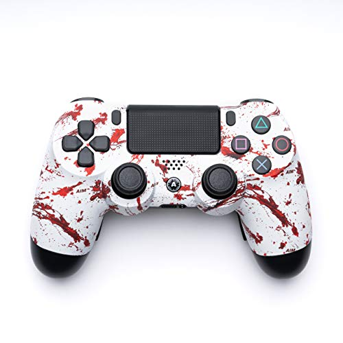AimControllers PS4 Custom Wireless Controller, PlayStation 4 Personalized Gamepad with 4 Paddles, Dexter [video game] [video game]