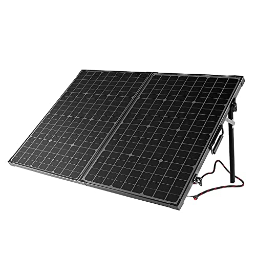 BigBlue 100W Solar Panels, Portable Solar Panel with Carry Suitcase and Aluminum...