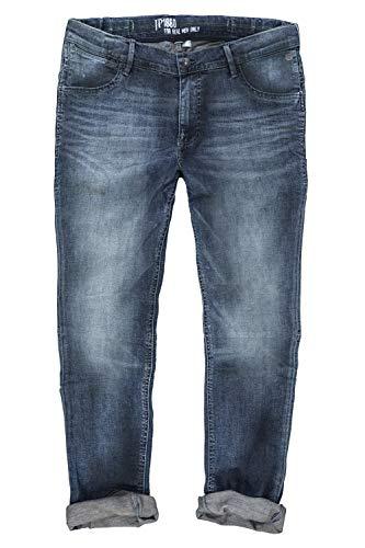 JP 1880 Herren große Größen bis 70, Jeanshose, Hose mit elastischen Gummieinsätze, Straight Fit, Denim, 5-Pocket, Travellar-Bund Blue Stone 58 718213 91-58
