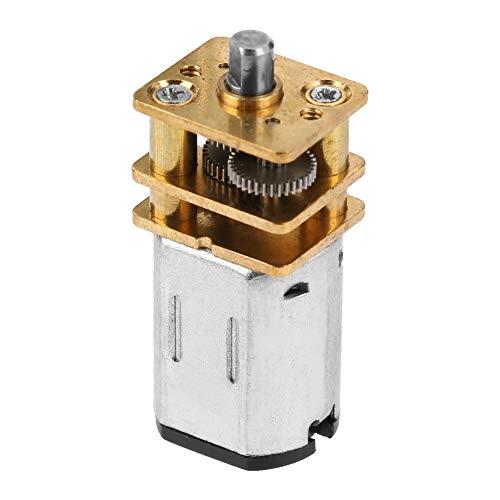 Motor de Engranaje de CC Totalmente metálico, Motor de Engranaje de Rueda Dentada Estructura de Metal con Acero Inoxidable para Modelos de Robot DIY 3-6v