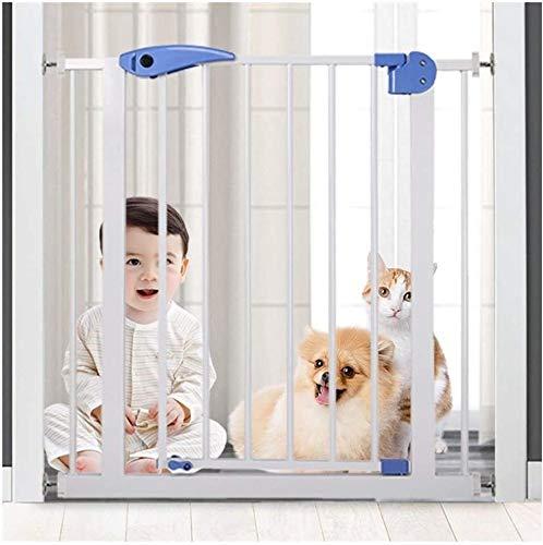 Puerta Para Bebé Puerta Para Mascotas Presión Fit Seguridad Puerta de metal Soportes de 76cm de altura El ancho se puede seleccionar de 75 a 180 cm de puerta for mascotas puerta del bebé con posibilid