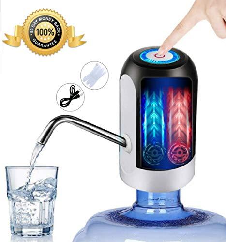JSG Dispensador De Agua, Bomba Electrica, Automatico Carga USB, Dispositivo Universal (Beba Agua Comodamente) Color (Negro)