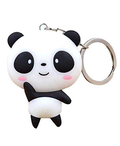 Gogofront - Llavero de silicona con diseño de panda de...
