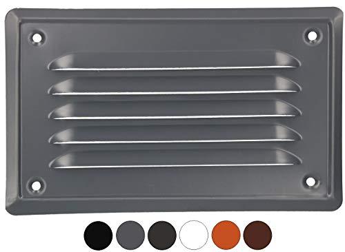 KOTARBAU ventilatierooster 165 x 100 mm afvoerrooster inschroeven gelakt open haard ventilatie insectenbeschermingsrooster bestand tegen corrosie 165 x 100 mm lichtantraciet
