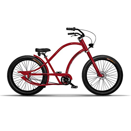 Chopper Fahrrad Herren Fahrrad 26 Zoll Chopper Cruiser Bike Herren Fahrrad Fur Manner Aluminium Rahmen Breitreifen