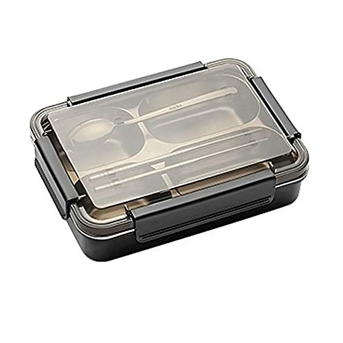 CNTJMJY Bento Box,Lunch Containers,Insulation Box,Leak Proof Stainless Steel, Double Portable Compartment Lunch Box