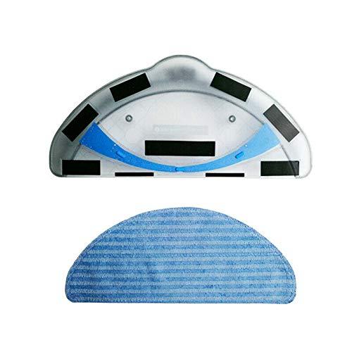 TOOGOO Wasser Tank + 2X Lappen für Dibea Panda X500 X580 Deebot Cen546 Cr120 Cr121