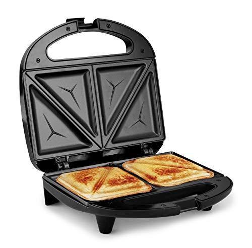 Elite Gourmet ESM2207 Sandwich Panini Maker Grilled Cheese Machine Tuna Melt Omelets Non-Stick Surface, 2 Slice, Black