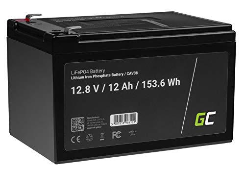 Green Cell® LiFePO4 Batterie 12Ah 12.8V 153.6Wh