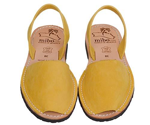 Authentic Avarca Menorquina Sandals Basic Nobuck Curcuma - Talla 41 EU