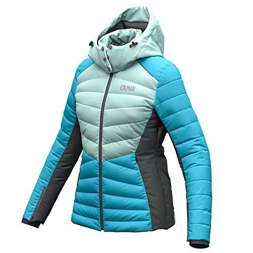 Colmar Ushuaia Damen Skijacke blau Mint grau (44)