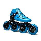 ME-Rollerns Pattini in Linea Vulcan Speed Ruote da Skate da Competizione Professionali in Fibra di Carbonio Pattinaggio da Corsa Patine Powerslide Simile Model 2 41