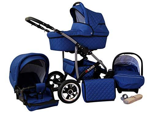 Kinderwagen 3in1 2in1 Set Isofix Buggy Kombikinderwagen Q-Step by SaintBaby Blau 3in1 mit Babyschale