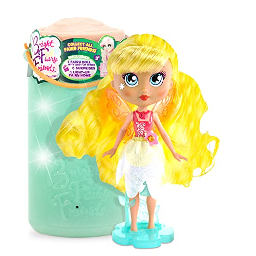 BFF Bright Fairy Friends Doll with Fairy Twinkle Lights Wings, 4 Surprise Doll Accessories and a Night Light for Kids, Gift for Kids 3 years and Older, New Series 2 Fairies