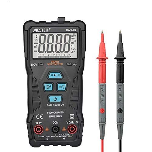 LHQ-HQ DM90S portátil de alta velocidad completa inteligente del multímetro de verdadero valor eficaz NCV Anti-quema Scientific Products portátil multímetro digital automático universal