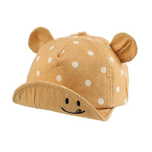Pesaat Baseballkappe Baby Junge Schirmmütze Baby Sommer Mädchen mit Größenregulierung Baby Baseball Cap (Gelb-A, 6-24Monate)