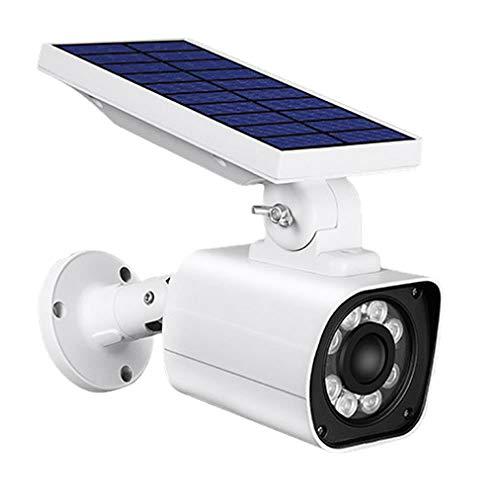 ダミー防犯 カメラ ソーラーライト センサー 3つ点灯モード IP66 防水 8m 距離 検知 赤いライト 防犯 人感 SOLARDAMI