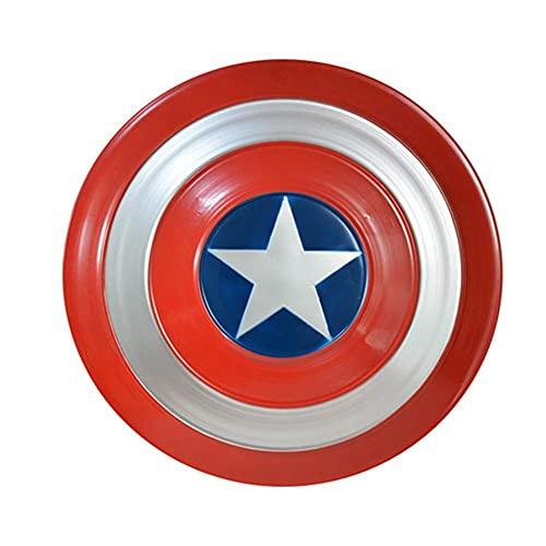 Marvel AvengersCapitán América Disfraz Escudo Adulto OSIZE 1 a 1 Versión de películaCapitán América Escudo Full Metal America Hombres Props Cosplay Shield 47.5 Cm