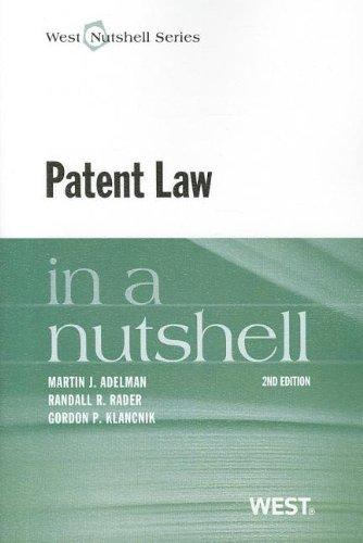 Patent Law in a Nutshell (Nutshells)