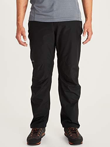 Marmot Herren Hardshell Regenhose, Winddicht, Wasserdicht, Atmungsaktiv Minimalist Pant, Black, L, 31240