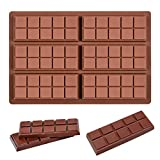 Fimary Silicone Chocolate Bar Sweet Molds Hot Chocolate Moulds Rectangle Baking...